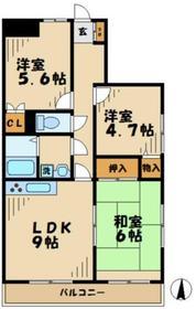 ステータスヒル寿岳1階Fの間取り画像