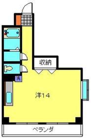 幸栄ビル4階Fの間取り画像