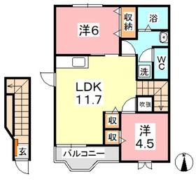 エクセランセトル2階Fの間取り画像