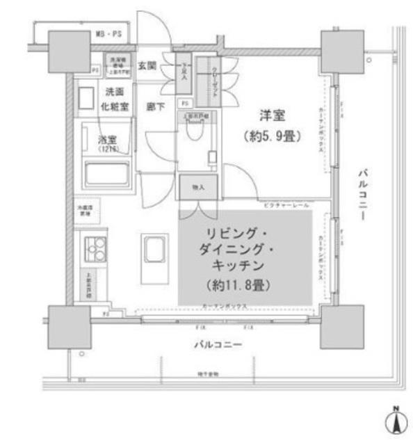 パークハウスワンズタワー間取図