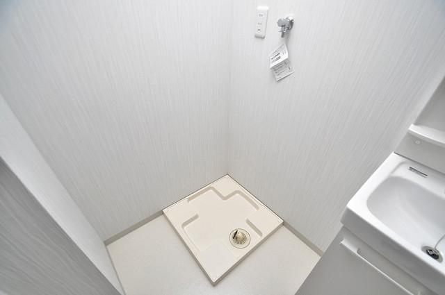 エム・ステージ小路 洗濯機置場が室内にあると本当に助かりますよね。