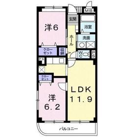 エレガンツァA3階Fの間取り画像