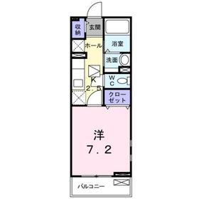 シャロル・ナカ2階Fの間取り画像