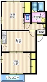 メゾン・エクレール2階Fの間取り画像