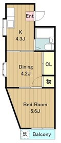 中島ビル33階Fの間取り画像