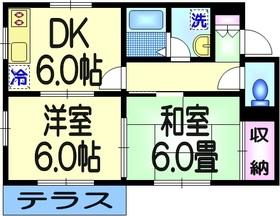 メゾンフェアリ1階Fの間取り画像