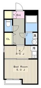 エクセル新百合丘3階Fの間取り画像