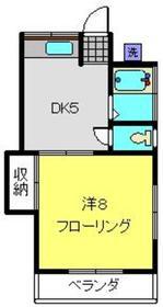 加藤荘C2階Fの間取り画像