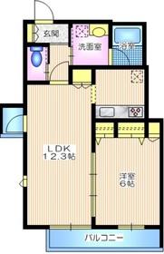 OHANA・MARIA オハナマリア ペット共生2階Fの間取り画像