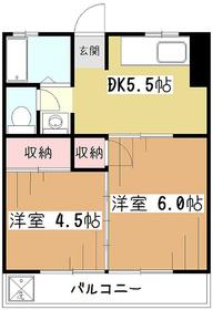 池田マンション4階Fの間取り画像