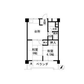 第2秋山エンタービル3階Fの間取り画像