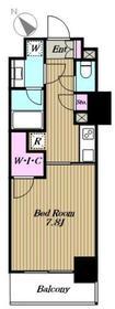 ロイジェントパークス赤坂4階Fの間取り画像