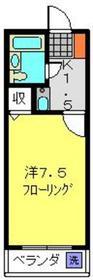 ハイツ児島1階Fの間取り画像