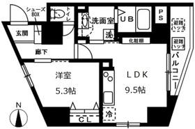オーヴェルク-Ⅱ7階Fの間取り画像