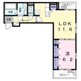 メゾンドボヌールK2階Fの間取り画像