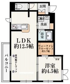 Silk Residence S1階Fの間取り画像