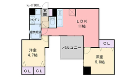 サムティ姪浜リトス9階Fの間取り画像