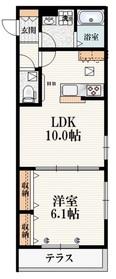 (仮称)武蔵台3丁目メゾン1階Fの間取り画像