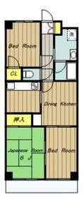 メゾン・ボヌール4階Fの間取り画像