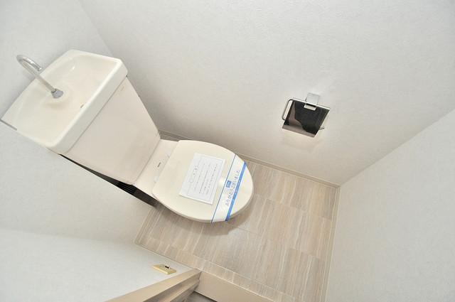 ブライトアーデン 白くてピカピカのトイレですね。癒しの空間になりそう。