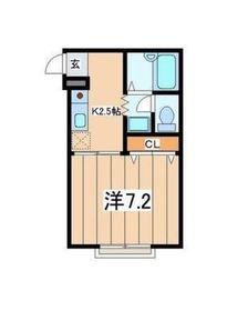 ブランドール横浜1階Fの間取り画像