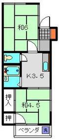 清水ハイツ2階Fの間取り画像