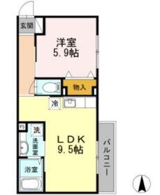 大師橋駅 徒歩12分2階Fの間取り画像