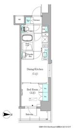 アーバネックス銀座東Ⅱ10階Fの間取り画像