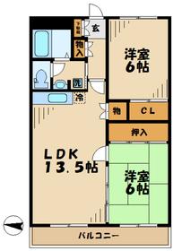 鶴巻温泉駅 車17分5.6キロ2階Fの間取り画像