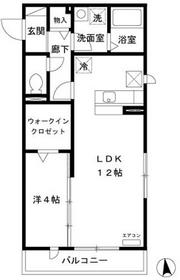 ef Osaki1階Fの間取り画像