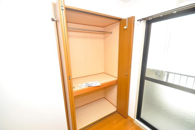 OKハイツ神路 各所に収納があるので、お部屋がすっきり片付きますね。