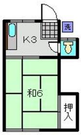 原アパート1階Fの間取り画像