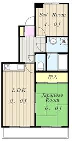 京王多摩川駅 徒歩30分2階Fの間取り画像