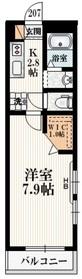 グランベール2階Fの間取り画像