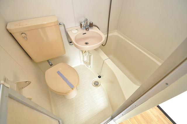 ムーンシングルエイト 単身さんにちょうどいいサイズのバスルーム。