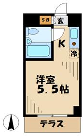 トップ稲城2階Fの間取り画像