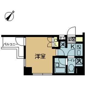 スカイコート押上第24階Fの間取り画像