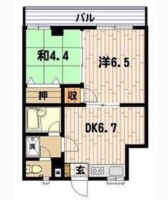 新杉田駅 徒歩15分2階Fの間取り画像