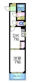 エミネンスフラット2階Fの間取り画像