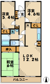 鶴巻温泉駅 車13分4.6キロ2階Fの間取り画像