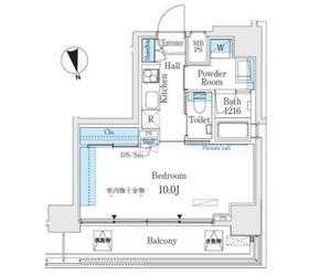 ミライズレジデンシャル九段12階Fの間取り画像
