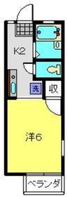 峰岡ハイツ2階Fの間取り画像