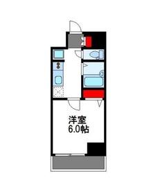 プレスタイル川崎5階Fの間取り画像