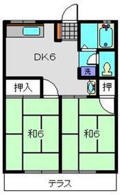 元住吉駅 徒歩13分2階Fの間取り画像