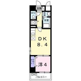 堀ノ内駅 徒歩9分4階Fの間取り画像