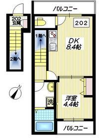 カドーヴェール2階Fの間取り画像
