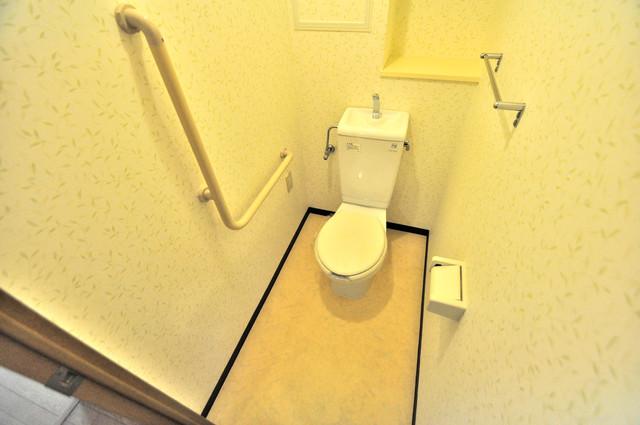 コレンテ スタンダードなトイレは清潔感があって、リラックス出来ます。