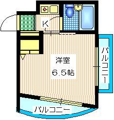 APPLE KOMABA2階Fの間取り画像