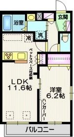 (仮称)西糀谷3丁目メゾン2階Fの間取り画像