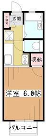 アメニティ1階Fの間取り画像